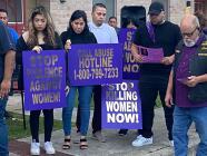 """""""Mis nietas vieron lo que pasó, por eso le digo cobarde"""": realizan vigilia en honor a Samantha López"""