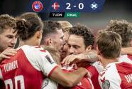 Dinamarca sigue encendida y derrotó a Escocia con claridad