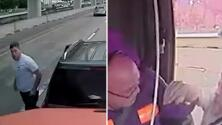 Video capta un caso de furia al volante en carretera de Houston
