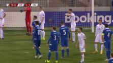 ¡GOL!  anota para Liechtenstein. Yanik Frick