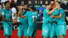 Benzema y Vinícius dieron un triunfo agónico al Real Madrid