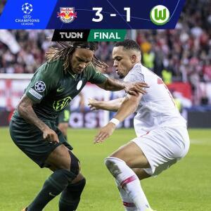 Resumen   Salzburg apaga el aullido del Wolfsburg y pelea su grupo