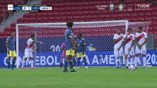¡GOL!  anota para Colombia. Juan Cuadrado