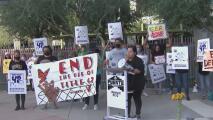 Manifestantes en Phoenix protestan contra las deportaciones a través del Título 42