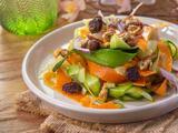 Fideos de verduras con aderezo de mostaza (muy originales)