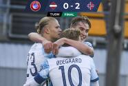 Con récord de Haaland, Noruega saca importante triunfo en Letonia