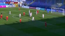 ¡GOL!  anota para Montenegro. Zarko Tomasevic