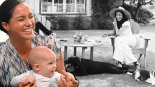Con sus dos perros y Harry de camarógrafo, Meghan Markle deja ver el jardín donde Archie disfruta su nueva vida