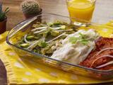 Chilaquiles tricolor: tres salsas y sabor mexicano (bajos en grasa)