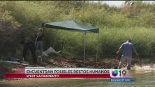 Posibles restos humanos en río Sacramento