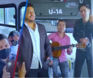 Con guitarra en mano, vocalistas de La Adictiva se ponen a cantar en los camiones