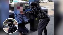 (VIDEO) Golpean a anciana para robarle su biblia y la cartera a plena luz del día