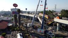 Imágenes aéreas muestran cómo quedó el puente colapsado del metro en la Ciudad de México