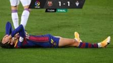Barcelona batalla sin Messi y apenas empata ante el Eibar