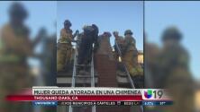 Mujer queda atrapada en la chimenea de su ex novio