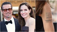 ¿Angelina Jolie se está borrando el tatuaje de Brad Pitt? Estas son las fotos que lo revelan