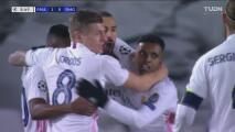 ¡Respira el Real Madrid! Benzema pone el 1-0 con un cabezazo