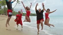 Lili, Raúl, Clarissa y 'Carlitos' recuerdan cuando hicieron su versión de 'Baywatch'