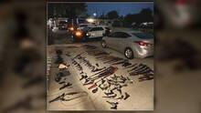 Disputa doméstica en Fairfield termina con decomiso de un arsenal con más de 120 armas