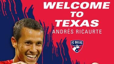 FC Dallas anuncia el fichaje del centrocampista colombiano Andrés Ricaurte
