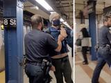Lo expulsan del subway por confrontar a policías que no usaban mascarilla