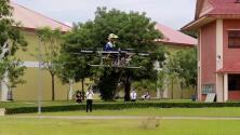¿Un dron para transportar personas? Estudiantes construyen un aparato que podría revolucionar los transportes