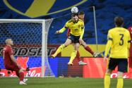 ¡Está de vuelta! Gran asistencia de Zlatan y gol de Suecia
