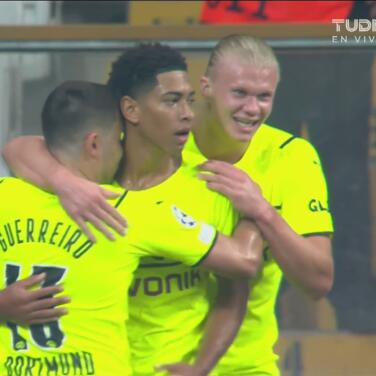 ¡Ponen orden! Bellingham define cruzado para el 0-1 del Dortmund