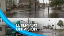 Algunas calles inundadas, la situación en Hackensack, Nueva Jersey: piden a conductores tener precaución