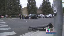 Cuatro heridos tras accidente múltiple