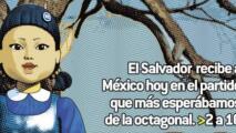 Al estilo 'Juego del Calamar', en El Salvador amenazan a México