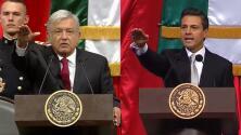 Video: Comparamos lado a lado las tomas de posesión de AMLO y Peña Nieto