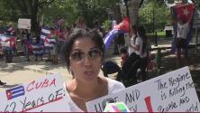 Cubanos se manifiestan frente al capitolio en Austin