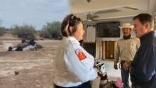 """""""El daño a esta comunidad es desgarrador"""": Gobernador de Arizona visita zonas afectadas por las inundaciones en Gila Bend"""