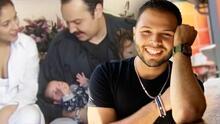 Leonardo Aguilar reacciona al ver las imágenes de cuando su papá lo presentó recién nacido a la prensa