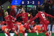 ¡De alto nivel! Liverpool vence al Milan en juegazo de volteretas