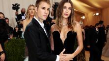 ¿Embarazo? Justin Bieber en incómodo momento con su esposa por tocarle el vientre en la Met Gala