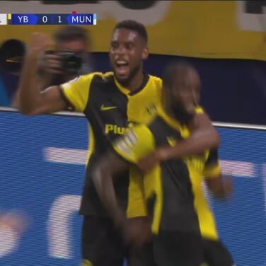 ¡Se tiran atrás y los empatan! Ngamaleu pone el 1-1 de Young Boys