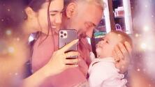 Con su paladar recuperado, la bebé de Gianluca Vacchi y Sharon Fonseca los derrite a besos