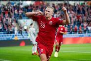 'Manita' de Noruega a Gibraltar con 'hat-trick' de Haaland