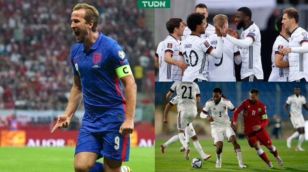 Alemania, Bélgica, Grecia e Inglaterra lograron resultados clave rumbo a Qatar