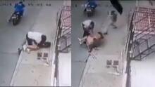 (VIDEO) Niño se enfrenta a ladrones para salvar a su madre