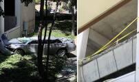 Un carro cae desde el cuarto piso de un parqueadero dejando a una mujer muerta