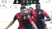 ¡Gol y debut de Johan Vásquez en empate del Genoa!
