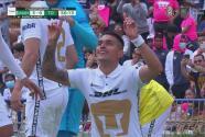 ¡Billarista! Favio Álvarez la pone sencilla al segundo poste y es el 3-0