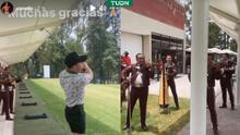 Así festejó el Canelo triunfo sobre Saunders: con golf y mariachi