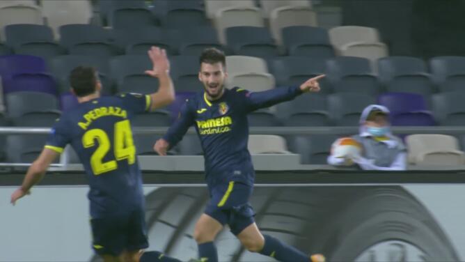 ¡Por fin! Villarreal toma ventaja 0-1 con golazo de Álex Baena