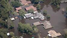 Desde el aire, así se ve la devastación causada por Harvey en el sur de Texas