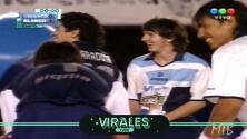 El vídeo inédito de Maradona y Messi jugando en el mismo equipo