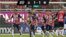 ¡De milagro! Chivas rescata empate con agónico cabezazo de Sepúlveda